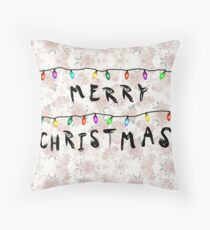Stranger Things Christmas Throw Pillow