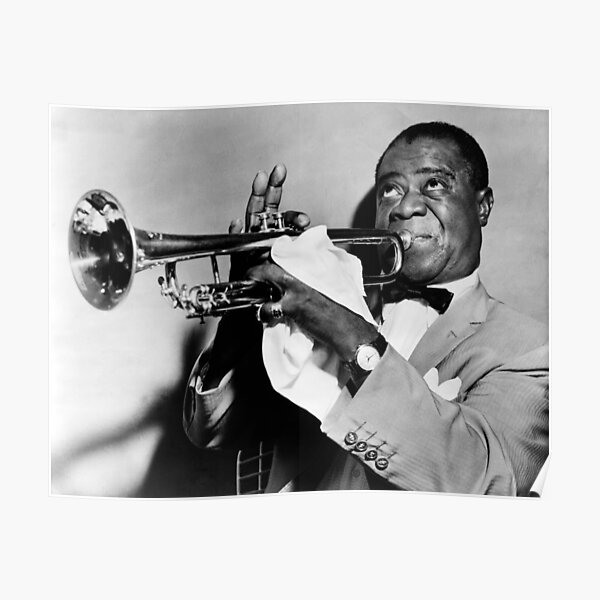 Louis Armstrong Jazz Great Poster