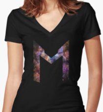 Markiplier Space Logo Women's Fitted V-Neck T-Shirt