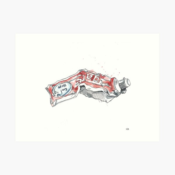 Toothpaste Art Print