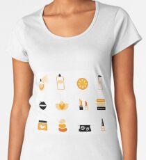 Wellness icons orange  Women's Premium T-Shirt