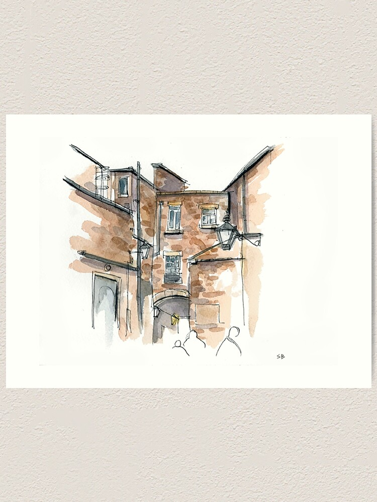 Alternate view of Angel Inn Art Print