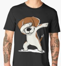 Dabbing Beagle Funny Men's Premium T-Shirt