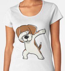 Tappender Beagle lustig Premium Rundhals-Shirt