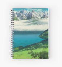 STUDIO GHIBLI MOUNTAIN LANDSCAPE Spiral Notebook