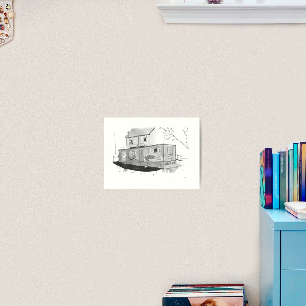 Temporary Polling Booth Art Print