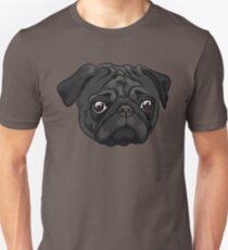 Cute black pug portrait Unisex T-Shirt