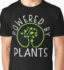 Powered by plants. Vegan Philosophy Graphic T-Shirt