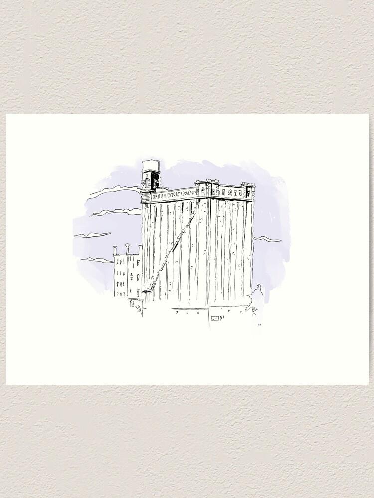Alternate view of British Extracting Co.Ltd, Hull Art Print
