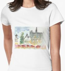 Grand place Christmas Market Women's Fitted T-Shirt