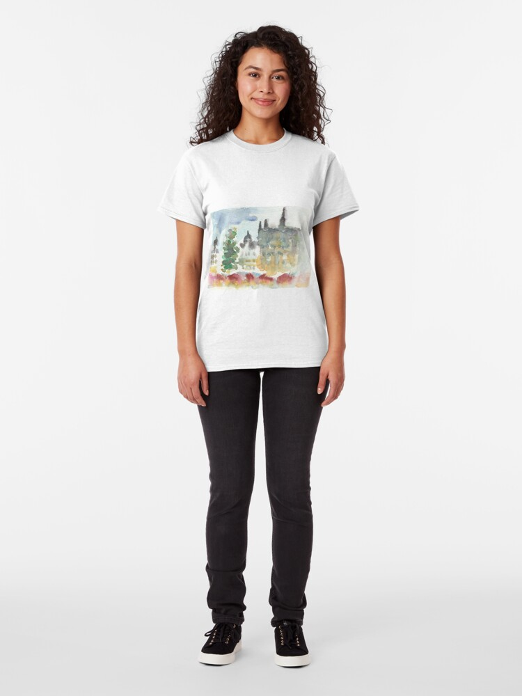 Alternate view of Grand place Christmas Market Classic T-Shirt