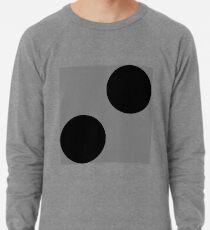 Schwarze Punkte auf Grauem Hintergrund Lightweight Sweatshirt