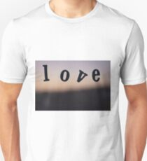 Love word abstract photograph romantic valentines day design Unisex T-Shirt