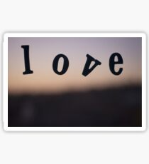 Love word abstract photograph romantic valentines day design Sticker