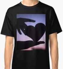 Love heart shape in hands photograph romantic valentines day design Classic T-Shirt