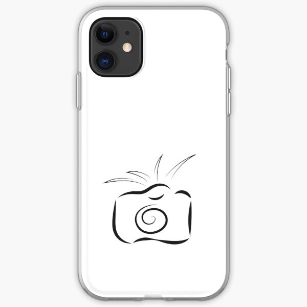 Black Outline Of Camera Isolated On White Background Iphone Case Cover By Alexx60 Redbubble