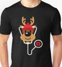Cute Reindeer Nurse Christmas Unisex T-Shirt