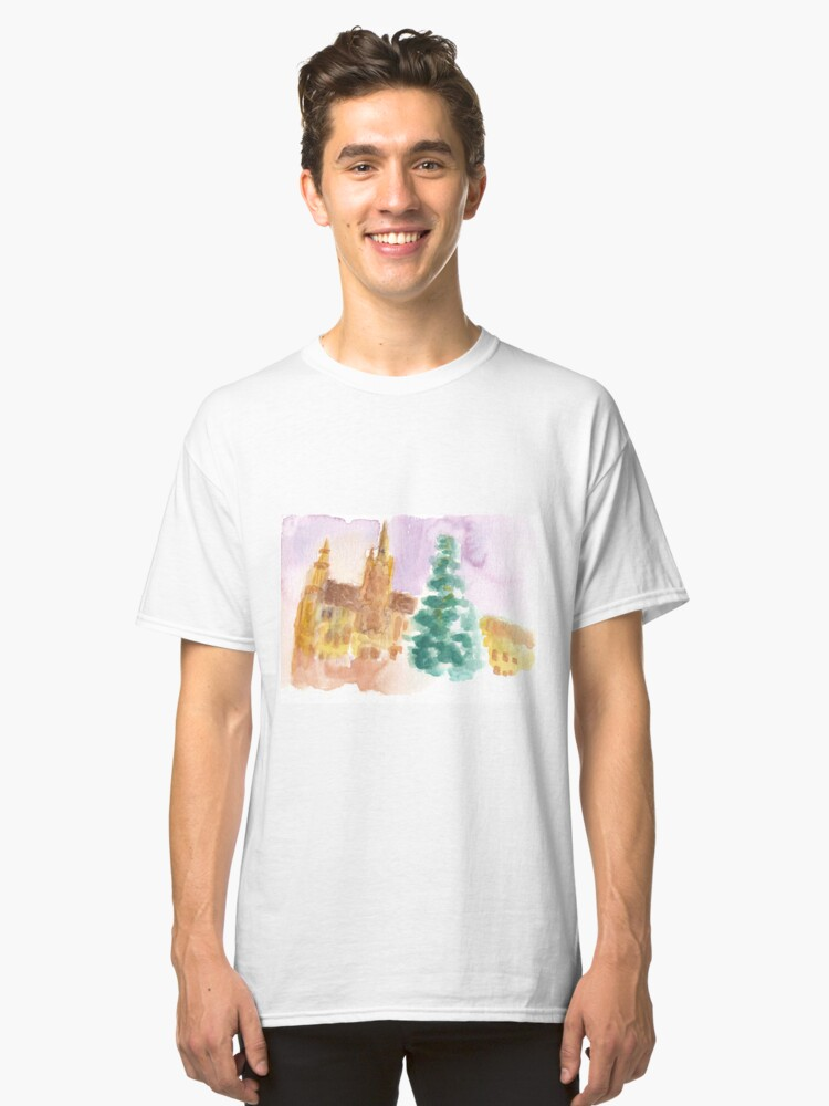 Alternate view of Grand Place at Christmas Classic T-Shirt