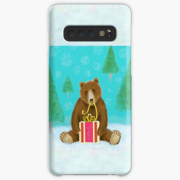 Bear with a gift Samsung Galaxy Snap Case