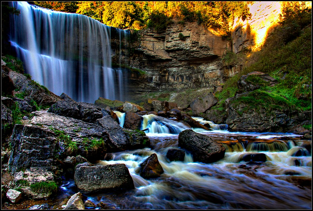 Websters Falls by Branko  Marinic