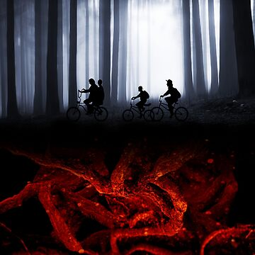 stranger things bike and roots by clad63
