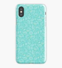 Hedgehog Paisley_Cerulean iPhone Case/Skin