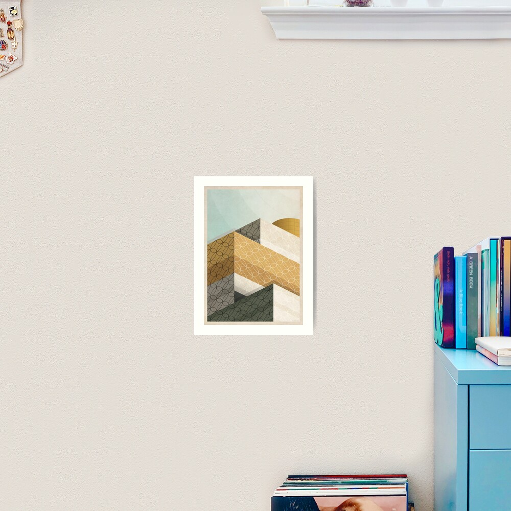 Library In Tangent Art Print
