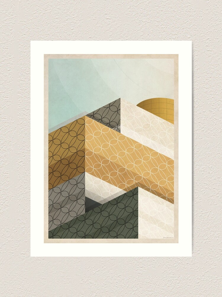 Alternate view of Library In Tangent Art Print