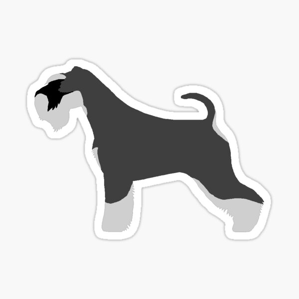 Miniature Schnauzer (Salt and Pepper) Sticker