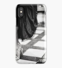 Sexy legs of female guest in party black and white wedding photograph iPhone Case/Skin