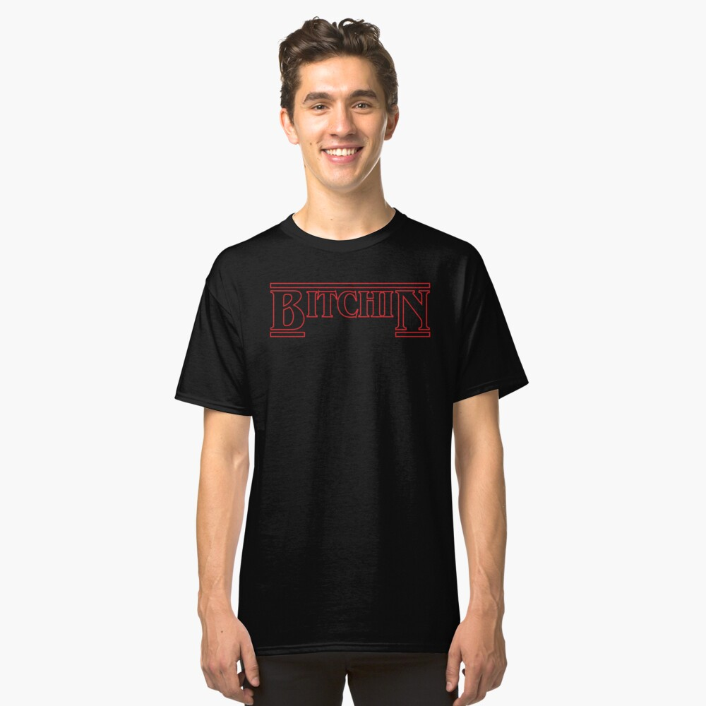 stranger things hopper upside down netflix eleven Hawkins Middle T Shirt