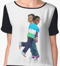 troy and abed in the morning Women's Chiffon Top