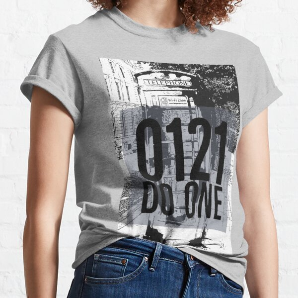 0121 Do One and image of Telephone box on gifts and t-shirts Classic T-Shirt