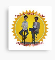 troy and abed in the morning Canvas Print