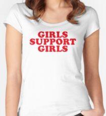 Camiseta entallada de cuello redondo CHICAS DE APOYO A LAS CHICAS