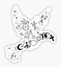 Coexist dove Sticker