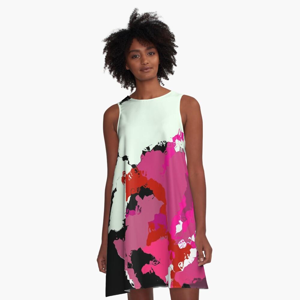 Ink A-Line Dress Front