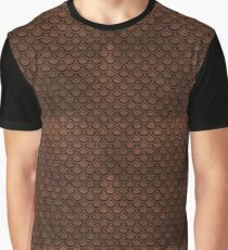 SCALES2 BLACK MARBLE & DULL BROWN LEATHER Graphic T-Shirt