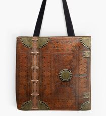 Ancient leather & brass book cover, Nuremberg 1477 Tote Bag