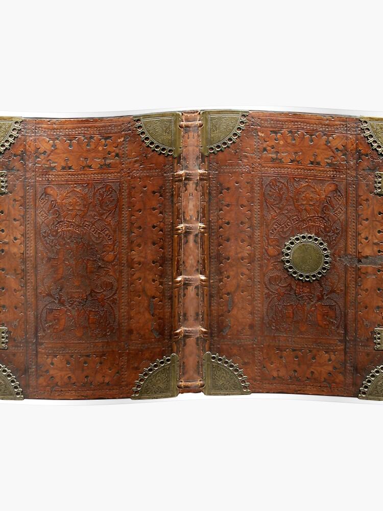 Ancienne Couverture De Livre En Cuir Et Laiton Nuremberg 1477 Poster