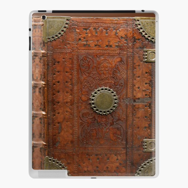 Ancient leather & brass book cover, Nuremberg 1477 iPad Skin
