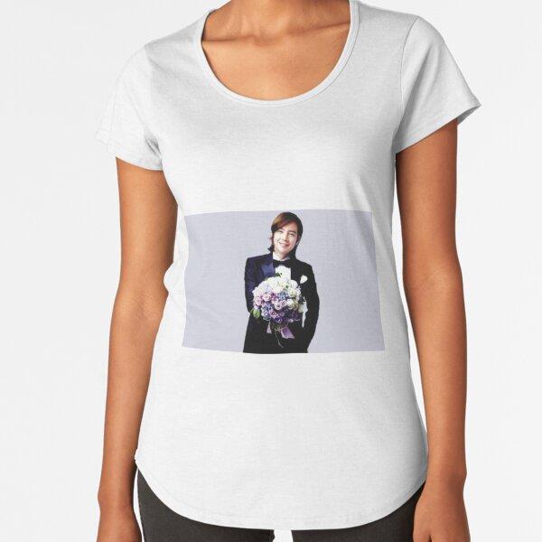 Jang Keun Suk with Flowers Premium Scoop T-Shirt