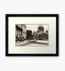 Saint Isaac's Cathedral, landmark in Saint Petersburg, Russia Framed Print