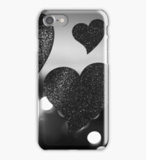 Four love hearts in silhouette night bokeh dof photo iPhone Case/Skin