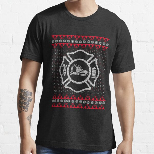 Firefighter Christmas Sweater T Shirts | Redbubble