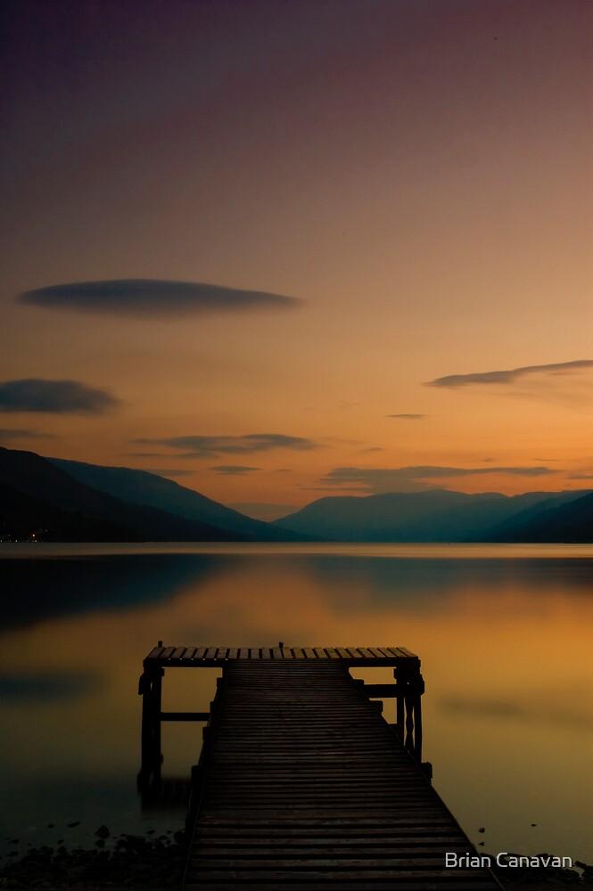Loch Earn Sunset - Peace by Brian Canavan