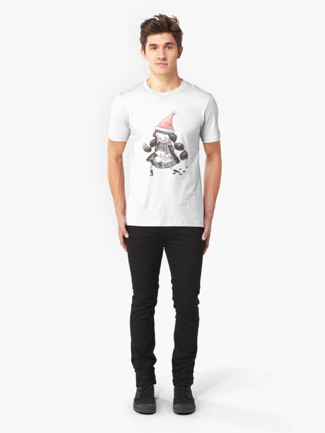 Alternate view of Travel With Love (Xmas) Slim Fit T-Shirt