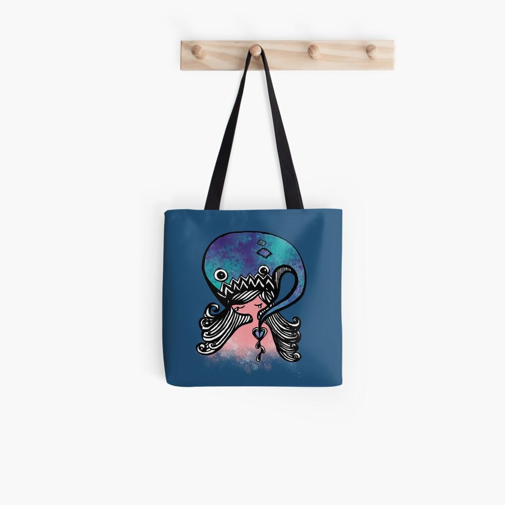Teary Heart Girl  Tote Bag