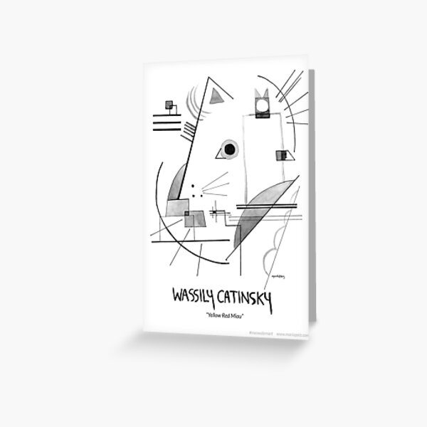 #meowdernart - Wassily Catinsky Greeting Card