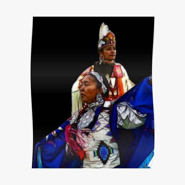 Pow Wow Dancers Poster